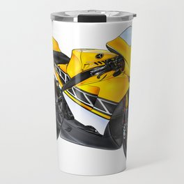 Motor cycle llustration color isolated art Travel Mug