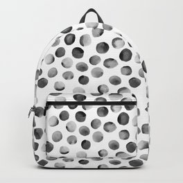 Black Watercolor Dots Backpack