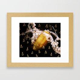 Golden Burn (nautic animal, nature photography) Framed Art Print