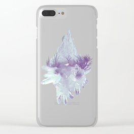Desert Crystals Clear iPhone Case