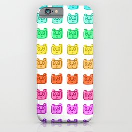Rainbow Bear Heads iPhone Case