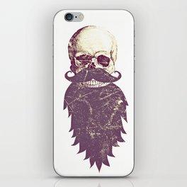 Beard Skull 3 iPhone Skin