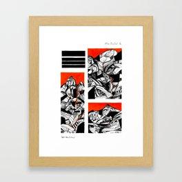 After Wainwright - Bowfell 16 Framed Art Print