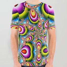 BBQSHOES™: Electron Shells and Avocados Fractal Design All-Over Print T-Shirt All Over Graphic Tee