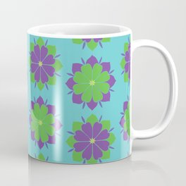 Purple + Green Power Flower Coffee Mug