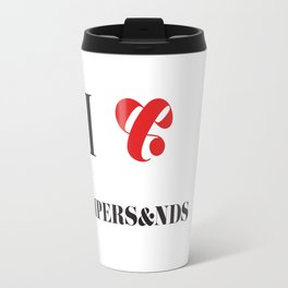 I heart Ampersands Travel Mug