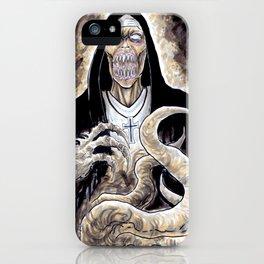 The Unholy Evil Nun Creature iPhone Case
