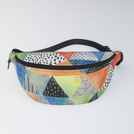 Doodled Geometry Fanny Pack