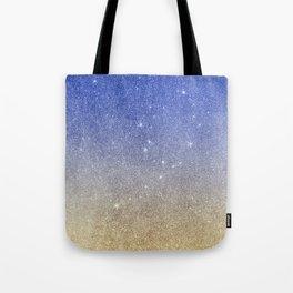 Modern sky blue faux gold ombre glitter Tote Bag