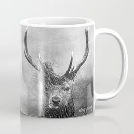 Stag Party Black And White Coffee Mug