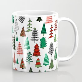 Christmas tree forest minimal scandi patterned holiday forest winter Coffee Mug