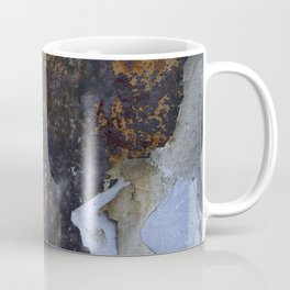 Old white paint on rusty metal Coffee Mug