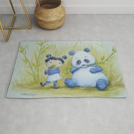 """Panda Pal Pleasantries"" Rug"