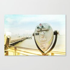 view from the island _ new york city Canvas Print