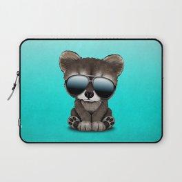 Cool Baby Raccoon Wearing Sunglasses Laptop Sleeve