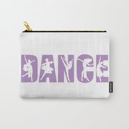 Dance in Light Purple with Dancer Cutouts Carry-All Pouch