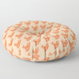 Allergic to Nuts - Origami Orange Squirrel Floor Pillow
