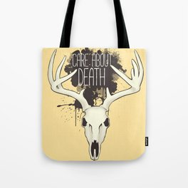 Care About Death Tote Bag