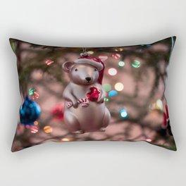 Christmas Mouse Photography Print Rectangular Pillow