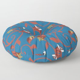 Blue Bug Swirl Floor Pillow
