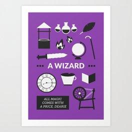 OUAT - A Wizard Art Print