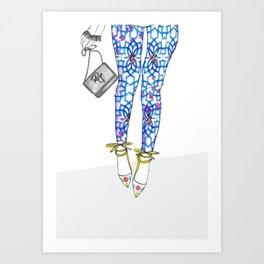 Tiles for Miles Art Print