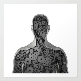 Clockwork human Art Print