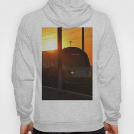 Train at sunset Hoody