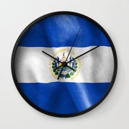 El Salvador Flag Wall Clock