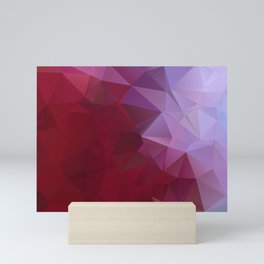 POPPY RED AND LILAC LOWPOLY Mini Art Print