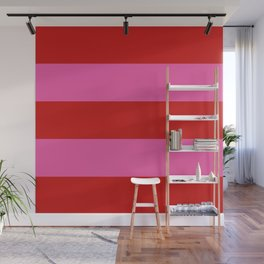 Valentines Day Wide Horizontal Stripes #2 Wall Mural