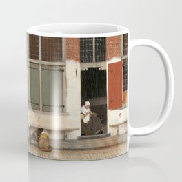 View of Houses in Delft, Known as 'The Little Street', Johannes Vermeer, c. 1658 Coffee Mug