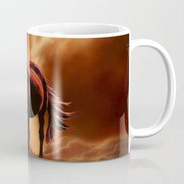 fantasy fire horse Coffee Mug