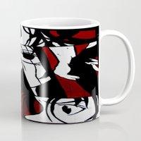 grafitti Mugs featuring Grafitti Manga by Fine2art