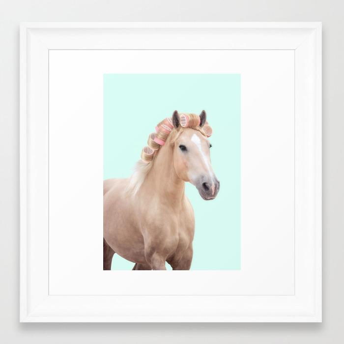 Palomino Horse Framed Art Print By Paulfuentes Society6