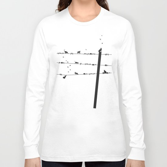 Cats and Birds Long Sleeve T-shirt