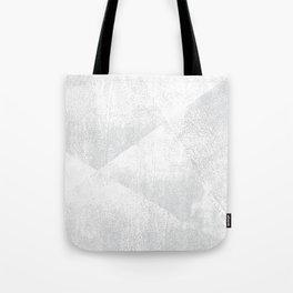 White and Gray Lino Print Texture Geometric Tote Bag