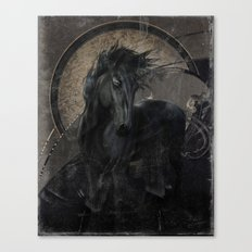 Gothic Friesian Horse Canvas Print