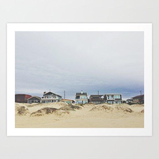 Beach front homes Art Print
