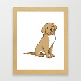 Golden Retriever Puppy Hound Gift Framed Art Print