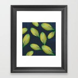 Tillandsia in dark blue Framed Art Print