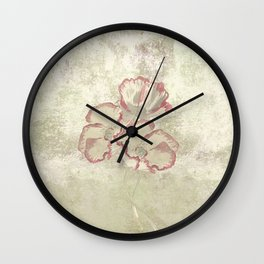 The temple bell stops but I still hear the sound coming out of the flowers. Wall Clock