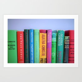 Row of Colorful Vintage Agatha's Art Print