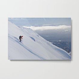 Skiers at Hatcher Pass (2) Metal Print