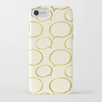 gold foil iPhone & iPod Cases featuring Cream Gold Foil 01 by Aloke Design