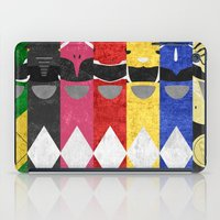 power rangers iPad Cases featuring Mighty Morphin Power Rangers by Some_Designs