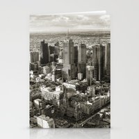 melbourne Stationery Cards featuring Melbourne City by Ewan Arnolda