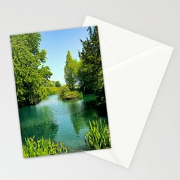 Aqua Lake Stationery Cards