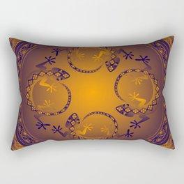 Orange Gecko Rectangular Pillow