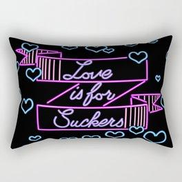 Love is for Suckers Purple Rectangular Pillow